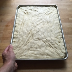 Foccacia in sheet tray