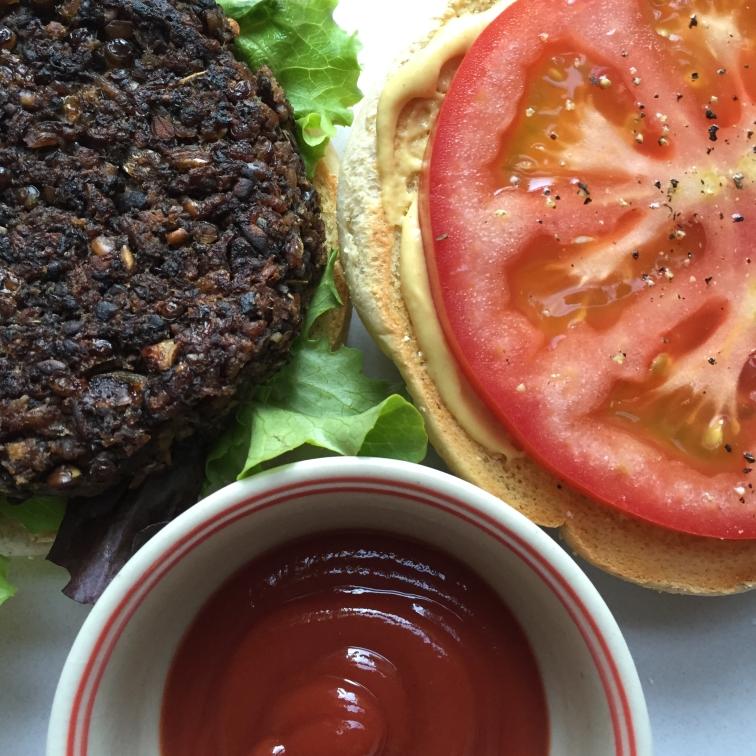 Veggie Burger Overhead