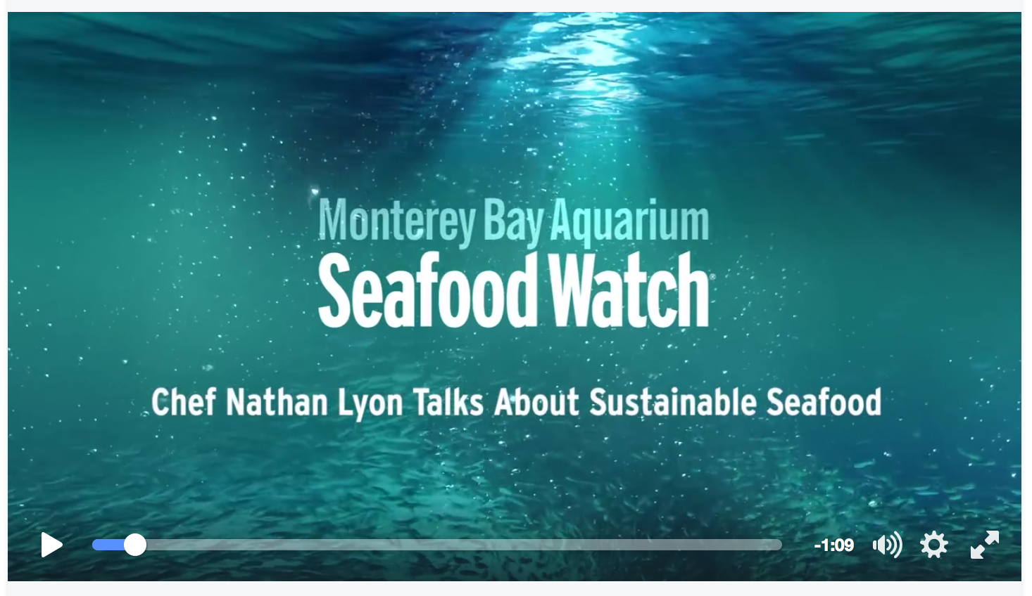 Spreading The Word About Sustainable Seafood