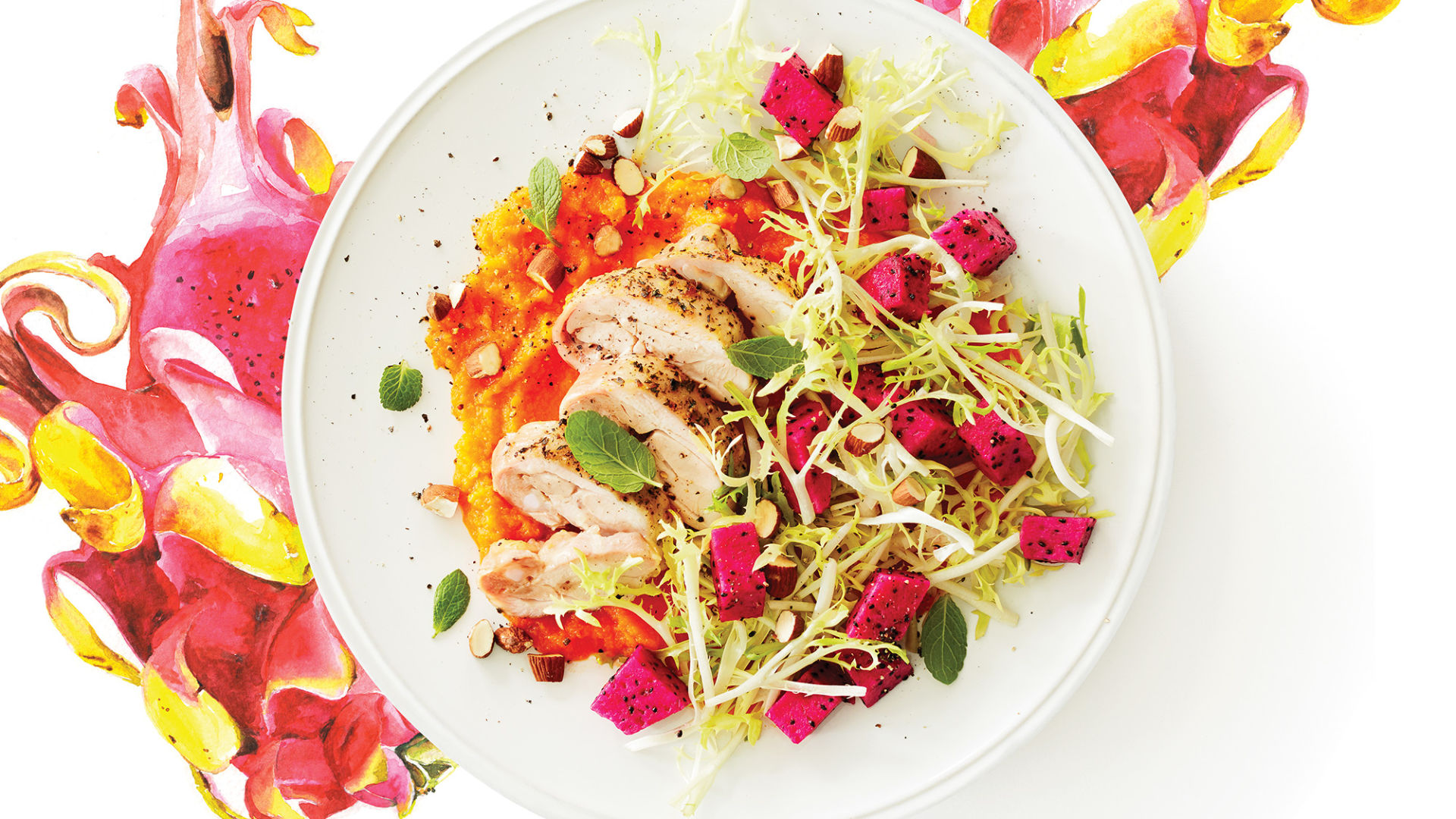 dragon-fruit-salad-with-lemony-chicken--butternut-puree-73-web