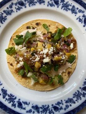 Coriander Spiced Calabacitas Tacos